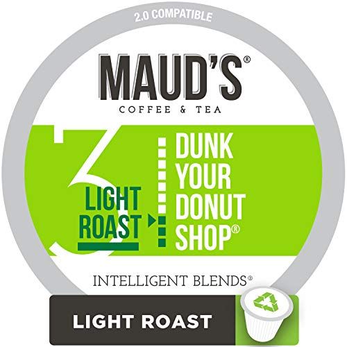 Maud's Donut Shop Coffee, (Dunk Your Donut Shop), 100ct. Recyclable Single Serve Coffee Pods - Richly satisfying arabica beans California Roasted, k-cup compatible including 2.0