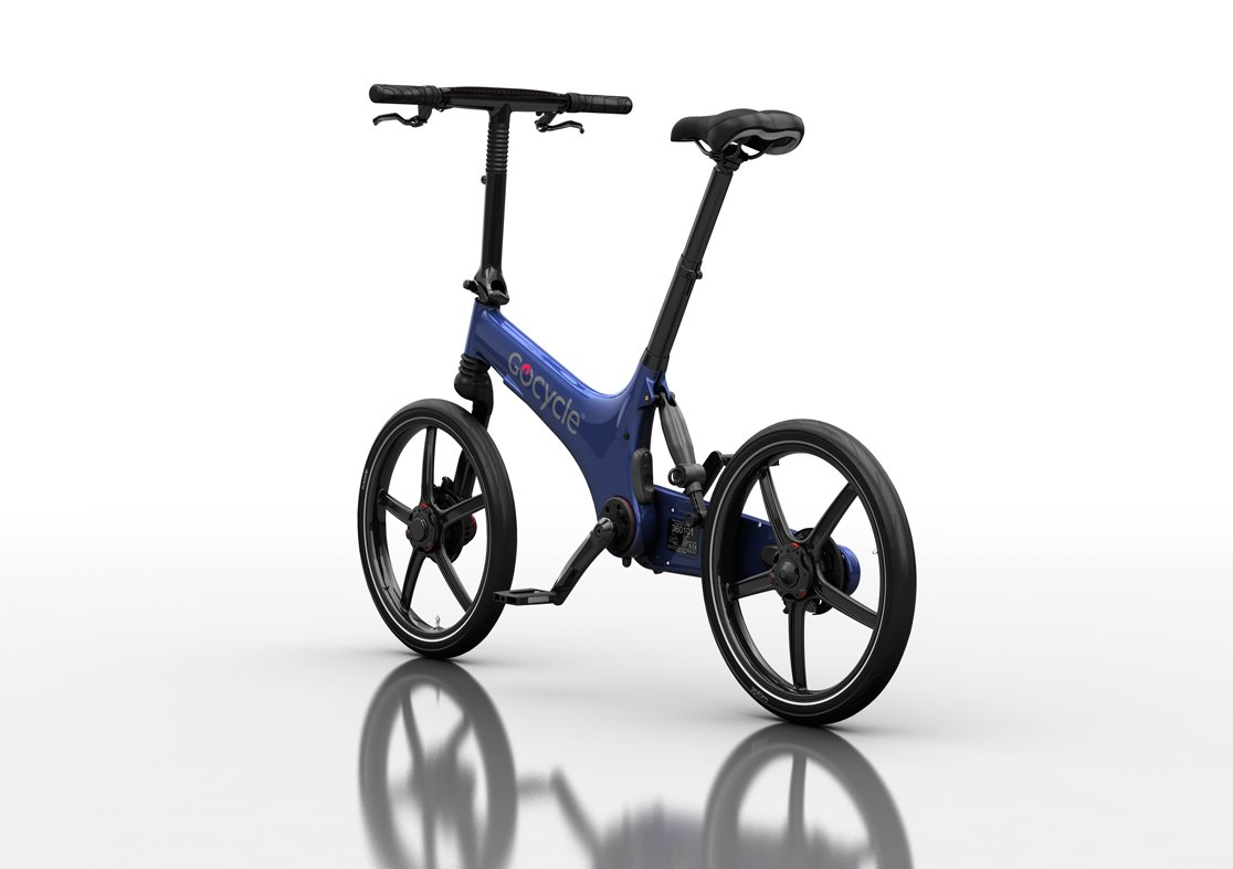 Bicicleta eléctrica plegable de diseño, GoCycle G3 azul con base pack + Vuelo de regalo a Europa para 2 personas: Amazon.es: Deportes y aire libre