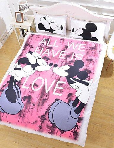amazon com meiren mickey mouse love bedding set cartoon style duvet rh amazon com pink king size mickey mouse bedding