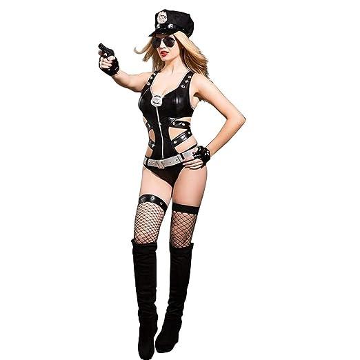 CG Disfraz De Policia Mujer Traje De Baño De Látex De PVC De ...