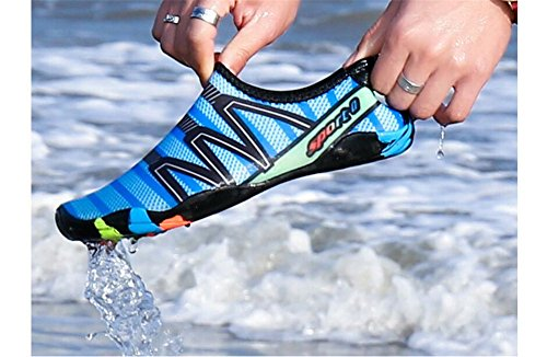 Exercise Barefoot Skin Yoga Sports Shoes Swim Quality and Mens for Surf A Socks Water Beach Classic Womens Aqua Blue x8X8Tq1A