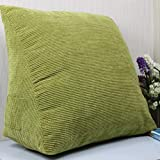 DONGLU Bed Large Backrest Triangle Cushion Solid Color Sofa Cushion Pillow (Color : 3#)