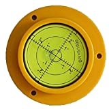Driak 90mm Diameter Precision Bullseye Bubble Spirit Level With Mounting Hole