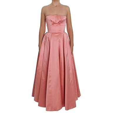 368ed051d9ac Amazon.com: Dolce & Gabbana Pink Silk Ball Gown Full Length Dress ...