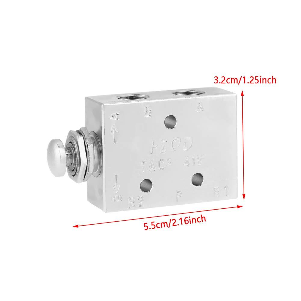 TAC2-41P Vanne /à bascule 2 positions 3 voies Commande pneumatique /à bouton-poussoir ON//OFF Vanne /à bascule