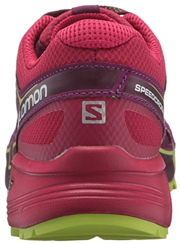 Salomon Speedcross Vario 2, Zapatillas de Running Para Asfalto Para Mujer Morado/Cereza (Dark Purple/Cerise/Acid Lime)