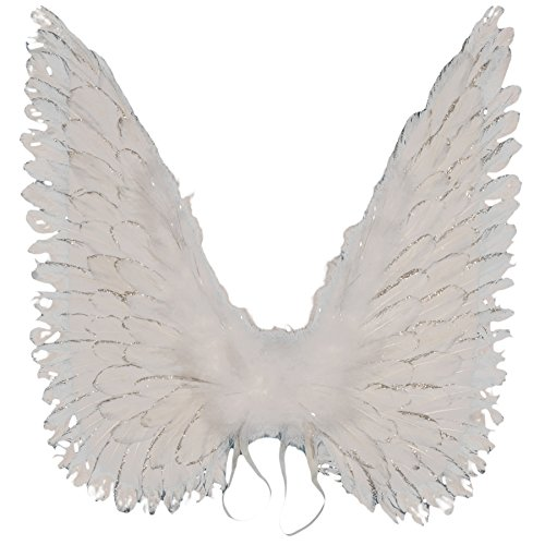 Loftus International Halloween Costume Accessory Large Angel Wings, One Size, White