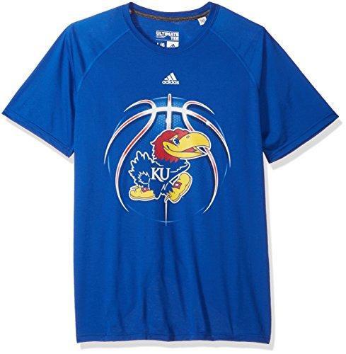 Jayhawks Shorts Adidas Kansas (adidas NCAA Kansas Jayhawks Mens Light Ball Ultimate S/Teelight Ball Ultimate S/Tee, Collegiate Royal, Large)