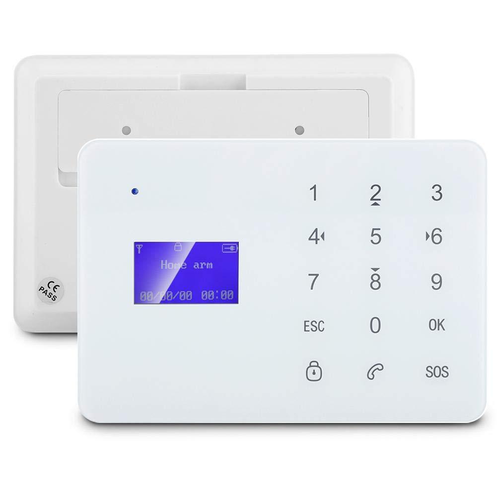 SOULONG Sistema de Alarma gsm con LCD Pantalla Sistema de Alarma Inteligente con Detector de Infrarrojos y Control Remoto para Casa y Oficina
