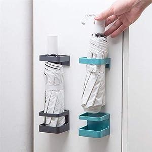 INOO 2Pcs Wall Mounted Umbrella Holder Plastic Portable Umbrella Organizer Storage Rack for Wall, Door, Cabinet.