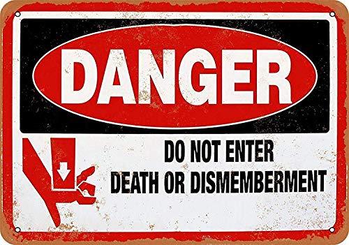 危険は入りません 金属板ブリキ看板警告サイン注意サイン表示パネル情報サイン金属安全サイン