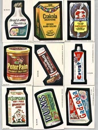 Wacky Packs Series (Wacky Packs Series 1 Complete set 1979)