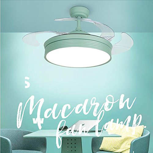 TiptonLight Green Invisible Ceiling Fan Blades 42 Inch Ceiling Fan Chandelier Simple Style Suitable For Indoor and Outdoor by TiptonLight