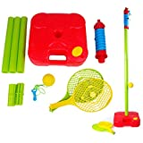 OSOPOLA All Surface PRO Swingball Tetherball Set Plastic Portable Classic Indoor Yard /Outdoor Game