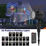 Christmas Projector Lights, Waterproof Outdoor Indoor Motion LED Projector, Holiday Light Party Outdoor Garden House Apartment Kids Room Night Light Night Decoration, 20 Slides