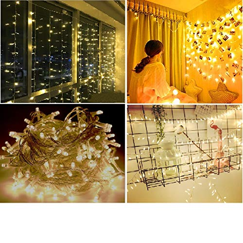 roof-bolter String Lights,Indoor/Outdoor Decoration Lights String Light LED Fairy Lights for Bedroom Garden,Wedding,Xmas Party (100led 32.5feet/10meters) Warm White