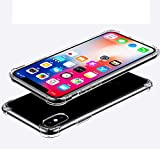iPhone X Case,iPhone 10 Case,iBarbe TPU Crystal Clear Ultra Lightweight Shock Absorbing Ultra Slim Anti-Scratch Non Slip Reinforced Corner Protection Bumper Case For iPhone X -Clear
