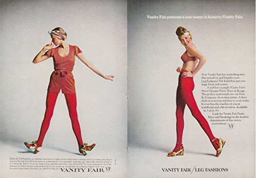 Vanity Fair Dots & Company & Leg Fashions panty hose bra ad 1971 NY