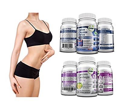 Greenatr Garcinia Cambogia + Colon Detox and cleanse (Detox & Weight Loss bundle)