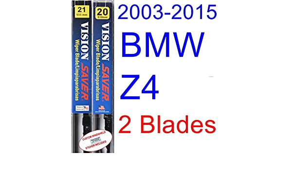 Amazon.com: 2003-2015 BMW Z4 Replacement Wiper Blade Set/Kit (Set of 2 Blades) (Saver Automotive Products-Vision Saver) (2004,2005,2006,2007,2008,2009,2010 ...