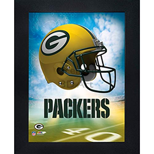Green Bay Packers 3D Poster Wall Art Decor Framed Print | 14.5x18.5 | Lenticular Posters & Pictures | Memorabilia Gifts for Guys & Girls Bedroom | NFL Football Team Sports Fan Pictures for Man Cave