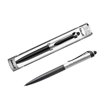 Pelikan Tintenroller Stola II Schwarz-Silber mit Laser-Gravur