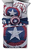 5-pc Marvel Captain America TWIN SIZE Quilt / Sham & TWIN SIZE Sheet Set