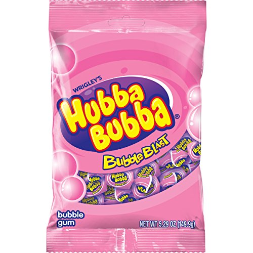 Hubba Bubba Bubble Blast Bubble Gum Bag, 5.29 ounce