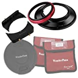 Fotodiox WPFA-OM714-System WonderPana 66 FreeArc Kit-Rotating 145mm Filter Holder, 6.6-Inch Filter Brackets, Cap F/Olympus 7-14mm F/4.0 Zuiko ED Zoom Lens (Black)