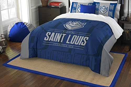 (The Northwest Company Officially Licensed NCAA St. Louis Billikens Modern Take Full/Queen Comforter and 2 Sham Set )