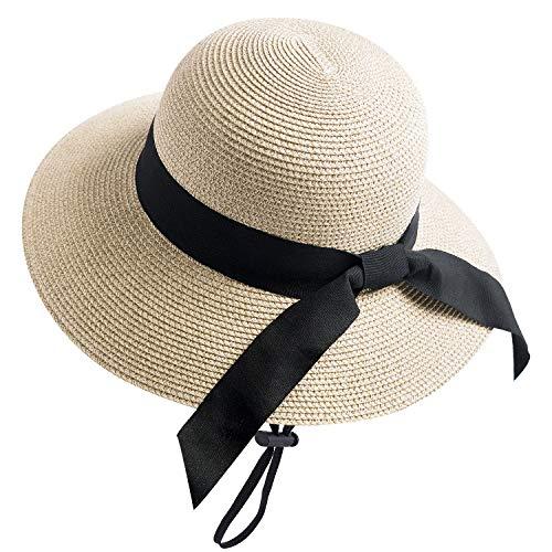 Women Lady Beach Medium Brim Summer Foldable Travel Sun Straw Hat Cap