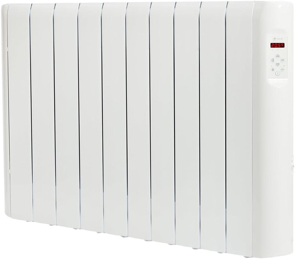 Haverland RCE10S - Emisor Térmico Digital Fluido Bajo Consumo, 1500 de Potencia, 10 Elementos, Programable, Exclusivo Indicador De Consumo