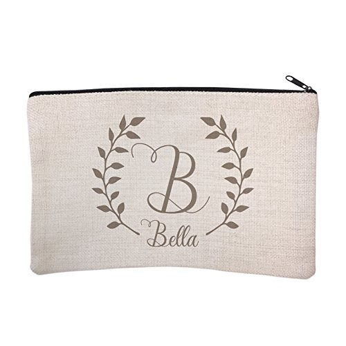Personalized Script Name with Laurel Cosmetic and Makeup Bag