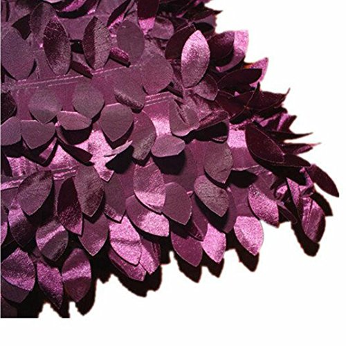 """Clearance!Polyester Square Leaves Feather Pillow Cover Cases Cushion Home Decor 18"""" x 18"""" (Purple)"""