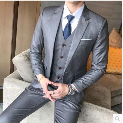 ab5407d052 YHNSXZ Blazer Abiti da Uomo Business Casual da Uomo Vestito da Sposa ...