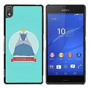 Be Good Phone Accessory // Dura Cáscara cubierta Protectora Caso Carcasa Funda de Protección para Sony Xperia Z3 D6603 / D6633 / D6643 / D6653 / D6616 // Baby Blue Kids Girl Little