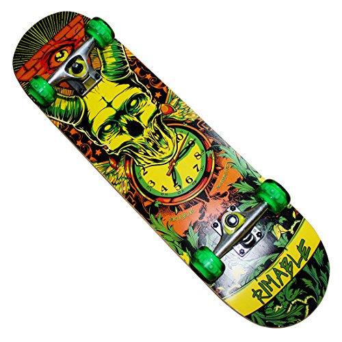 Rimable Complete Maple Skateboard Inch