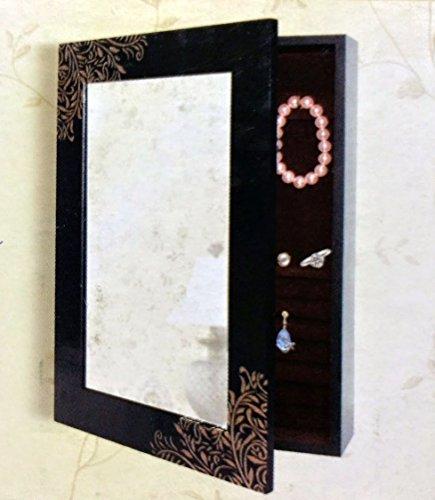Wall Hanging Jewelry Box w/ Mirror