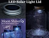 LED Panel Solar Light Moon Shiners Sun Powered Mason Jar Lids Sensor Country Primitive Décor For Sale