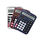 BALUZ Desk Calculators,Standard Function Office Calculator,Solar and Battery Dual Power Electronic Calculator Portable 12 Digit Large LCD Display Handheld Calculator