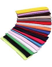 18 stuks kleurrijke sport yoga katoenen hoofdband rekbare Alice band haarband voor meisjes dames