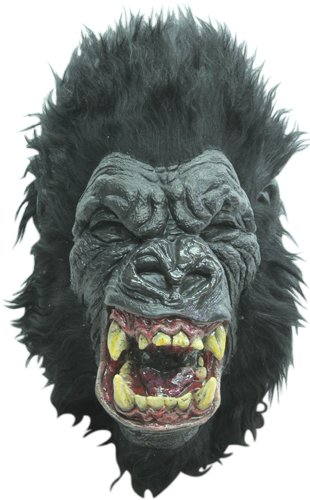 Scary Rage Ape Gorilla Adult Halloween Costume Mask ()