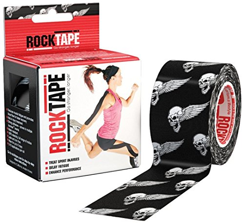 RockTape Kinesiology Tape for Athletes - 2-Inch x 16.4-Feet (Skull)