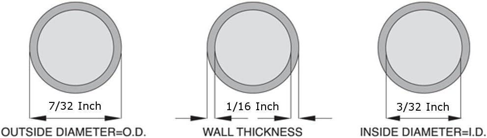 5 Feet 3//32 ID x 7//32 OD Silicone Tubing