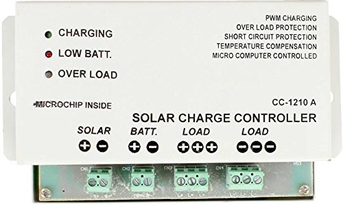 FOS 12V-10Amp  (Microcontroller Based) PWM Solar Charge