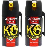 Familien Set: 2x 40ml Original Columbia KO-CS Abwehrspray Verteidigungsspray - Made in Germany!