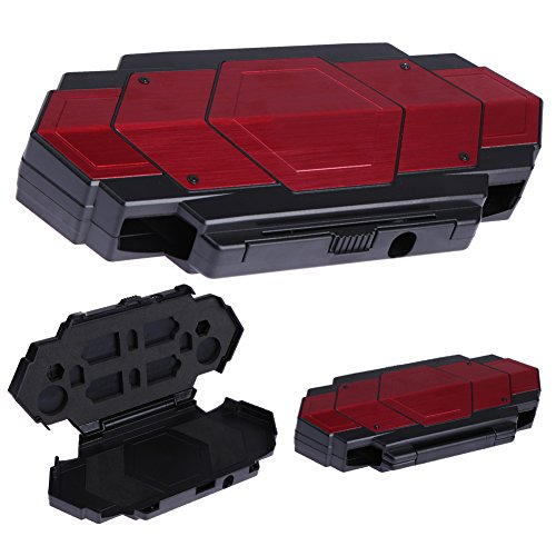 Price comparison product image Alloet Hard Aluminum Steel Armor Protective Storage Case Bag Holder for Sony Playstation PS Vita Red
