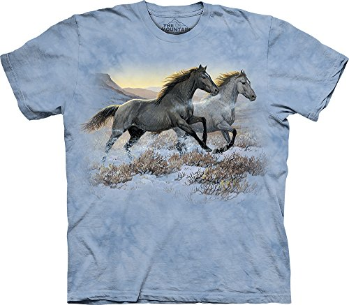 The Mountain Kids Running Free T-Shirt, Small, Blue