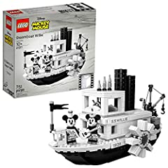 Disney Mickey Mouse fans will love this LEGO Ideas 21317 Disney Steamboat Willie building toy marking the 90th anniversary of the most famous cartoon character ever. Mickey Mouse made his screen debut in a 1928 black-and-white animated short ...