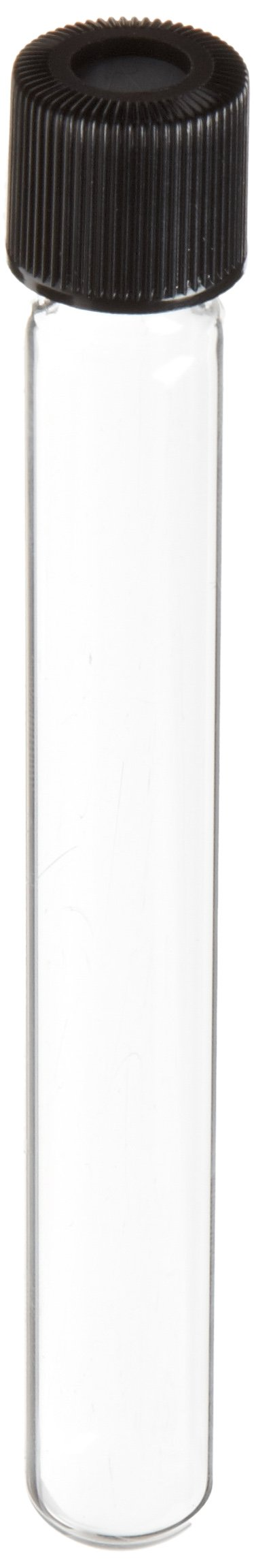 Chemglass CLS-4208-01 Glass 4.5mL Complete Hungate Anaerobic Culture Tube, with Screw Thread 16mm Diameter x 125mm Height, (Pack of 100)